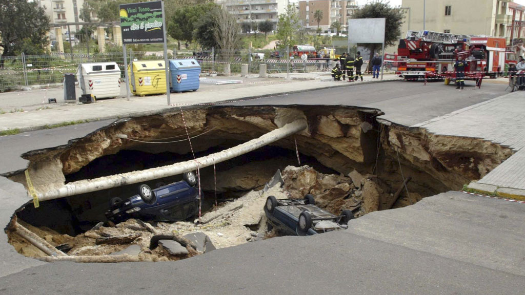 Sinkhole in Gallipoli