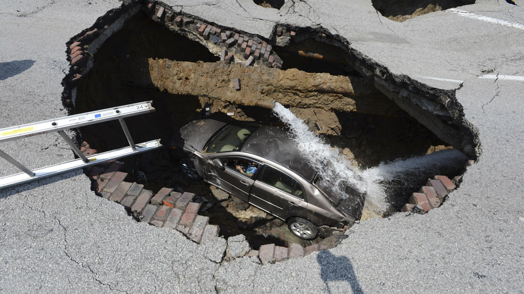 Sinkhole in Ohio