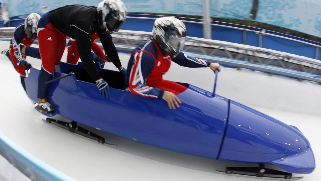 John Jackson and Britain's four-man bobsleigh team (Reuters)