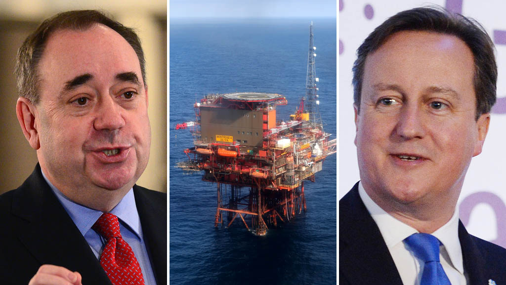 David Cameron and Alex Slamond do battle over North Sea oil