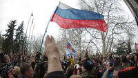 Pro-Russian protests in Sevastopol