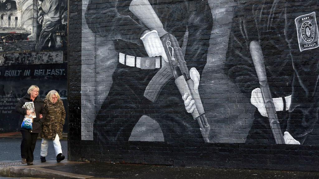 Belfast loyalist mural (Reuters)