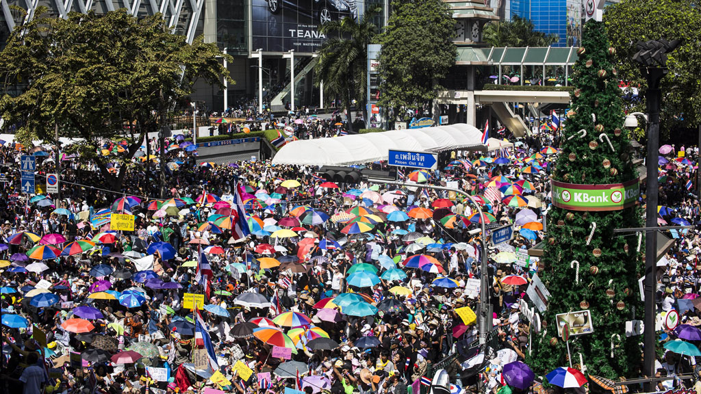 Thailand: Protesters lock major intersections in Bangkok (picture: Reuters)