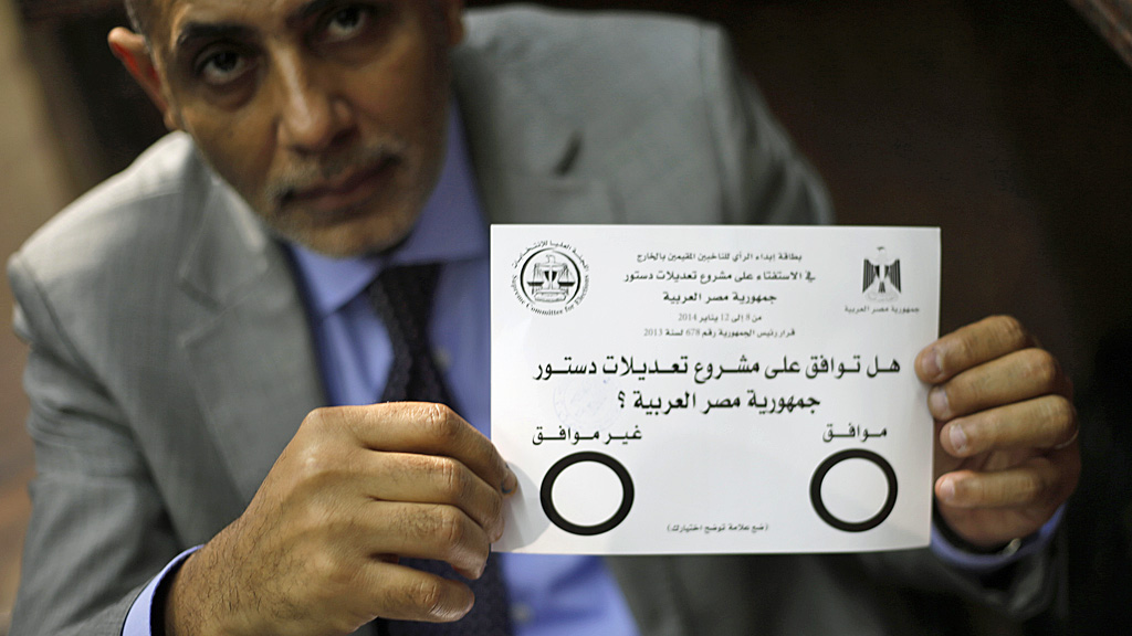 Egypt referendum constitution Sisi Morsi Muslim Brotherhood