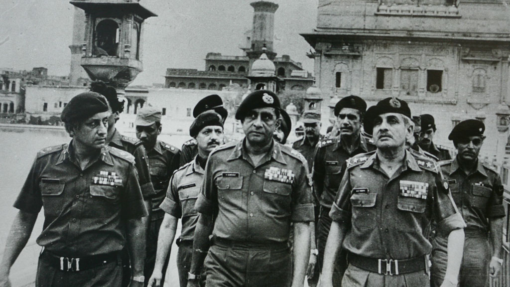 Indian army officers at the scene of the operation (Getty)