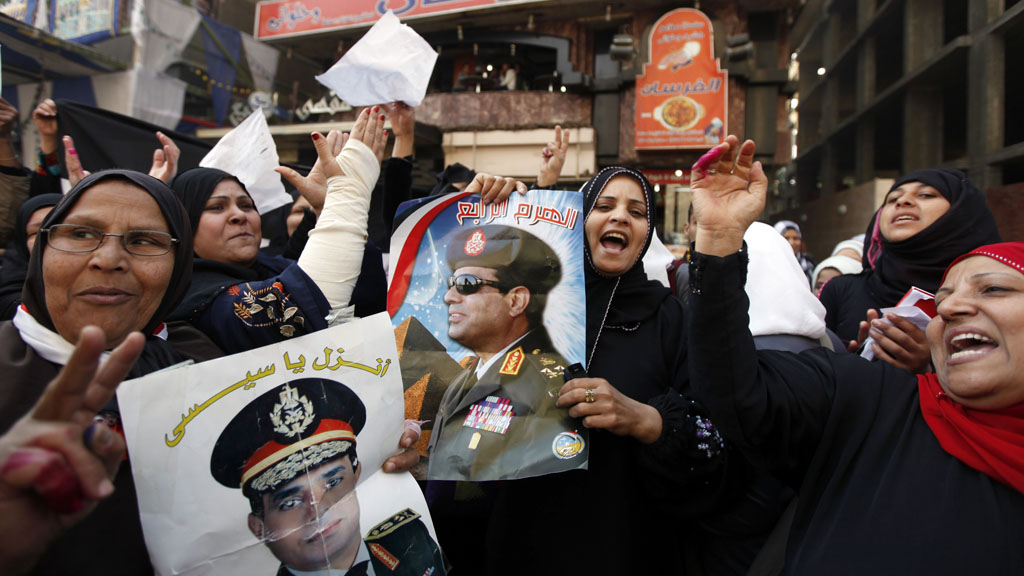 Egypt referendum: supporters of General Sisi