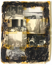 Image (right) by William Burroughs: Untitled, 1972 - 73 (Courtesy of the Barry Miles Archive)