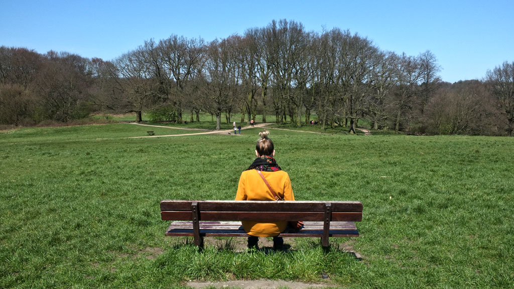 Teenage girl on Hampstead Heath (G)