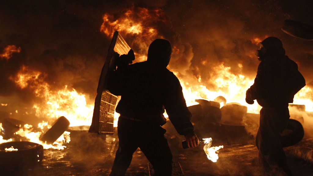 Clashes in Ukraine (picture: Reuters)