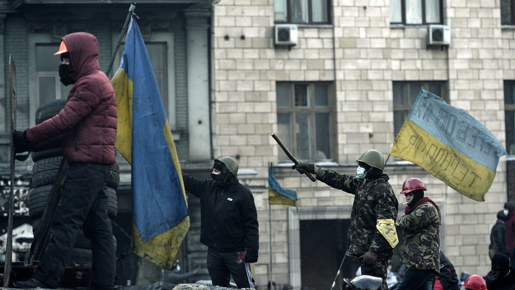 Kiev protesters (Getty)
