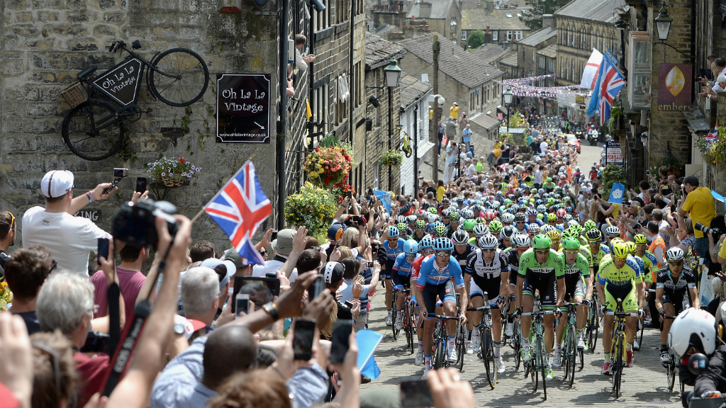 Over the cobbles of Haworth in Bronte country. (Getty)