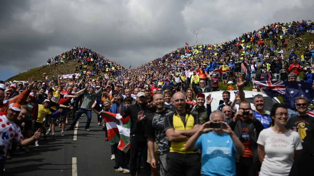 Tour de France: crowds gather for the race in the Yorkshire Dales. (Getty)