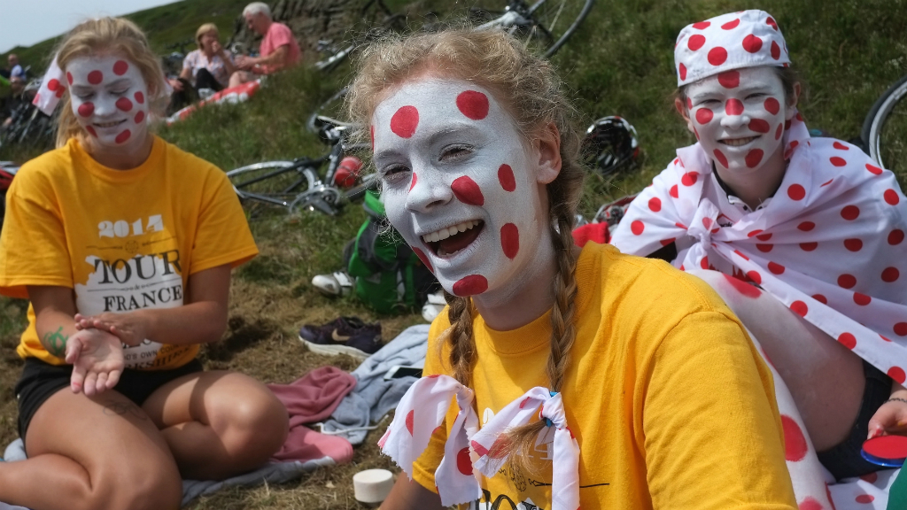 Tour de France: the red spots worn by the King of the Mountains adorned everything at the weekend. (Getty)