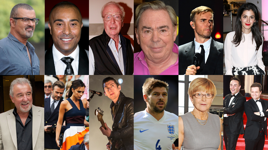 Celebrities accused of tax avoidance