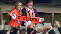 Queen Maxima and King Willem-Alexander of the Netherlands supporting the national team in Porto Alegre (Getty)