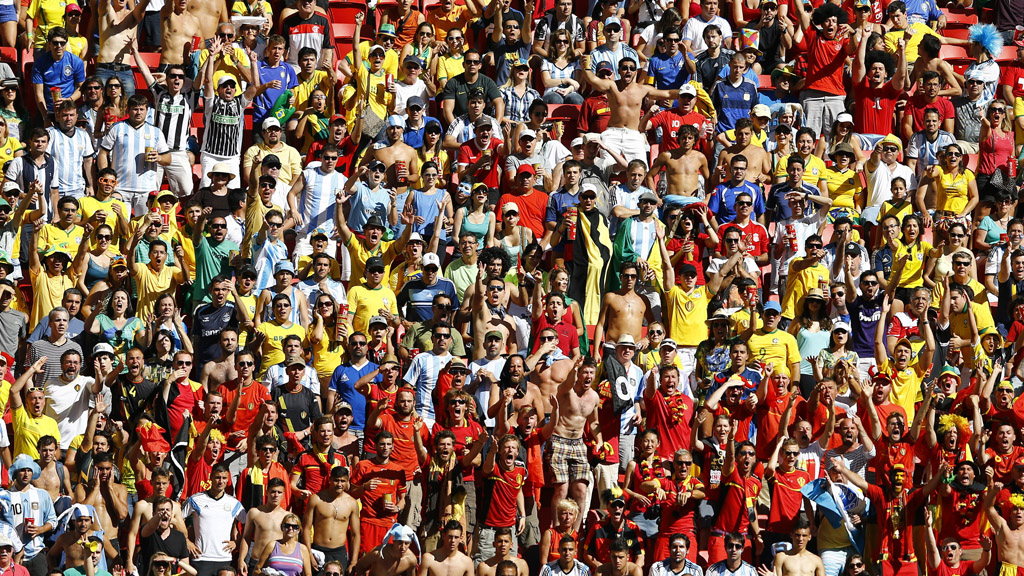 World Cup 2014: great crowd atmosphere, Argentina v Belgium. (Reuters)