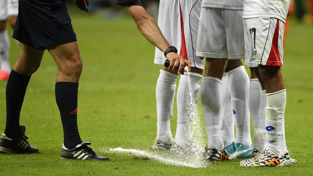 World Cup 2014: referee's spray. (Getty)