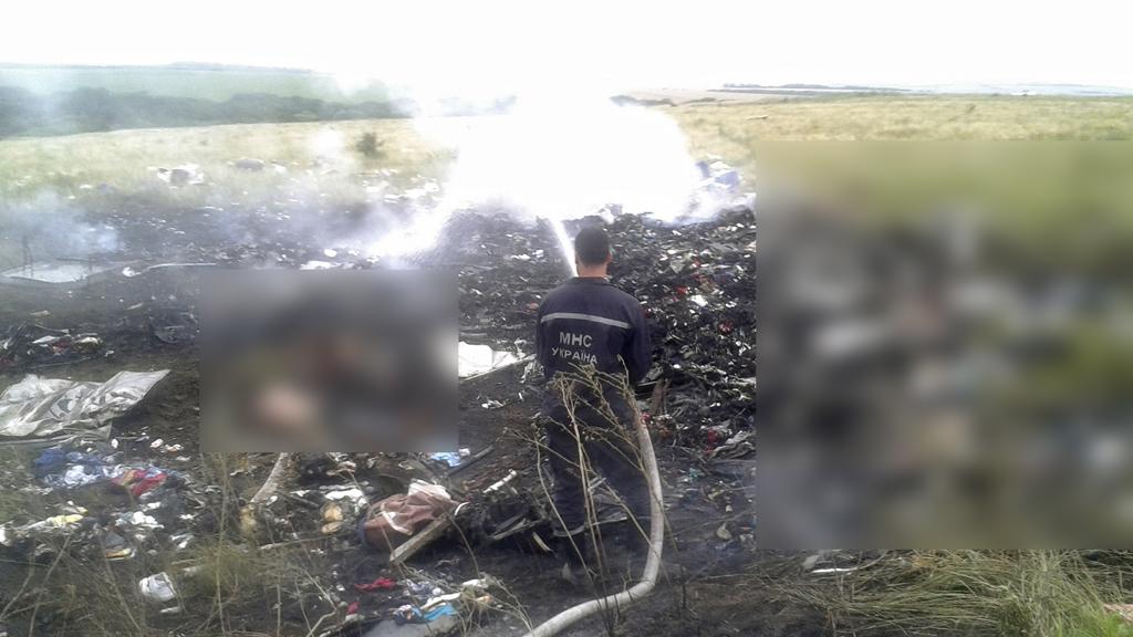 Malaysian plane crash site in Ukraine