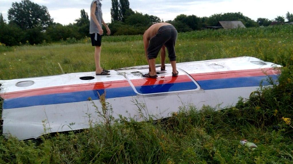 Unverified image of MH17 wreckkage, via Storyful/Nadezhda Chernetskaya