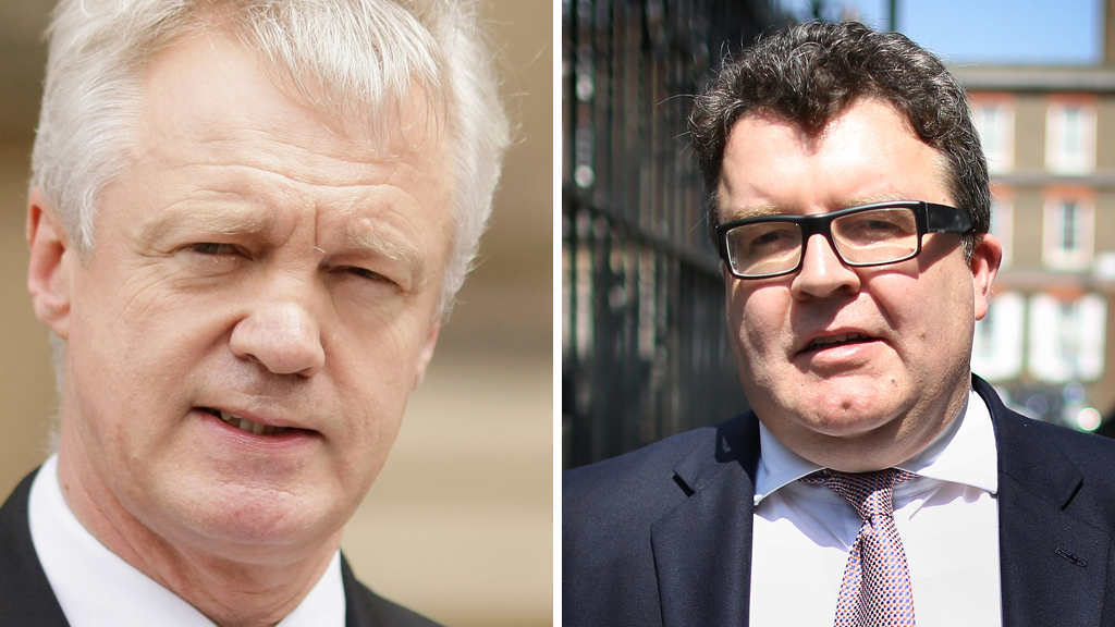 Left to right: David Davis MP and Tom Watson MP (pictures: Getty)