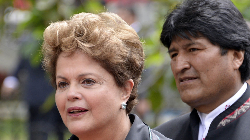 Brazilian President Dilma Roussef and Bolivia's Evo Morales (Getty Images)
