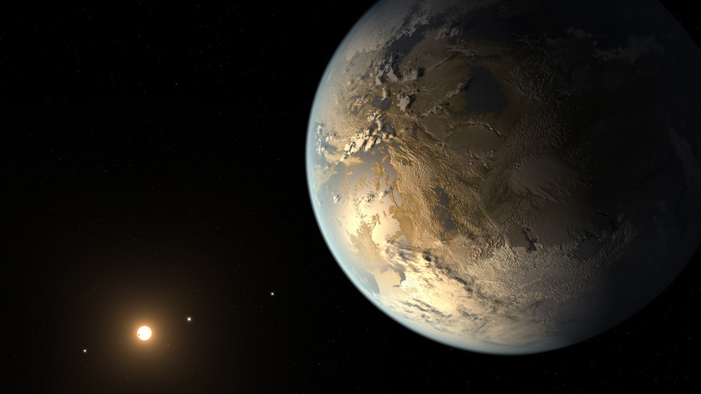 Artist's impression of Kepler-186f. Image credit: NASA Ames/SETI Institute/JPL-Caltech
