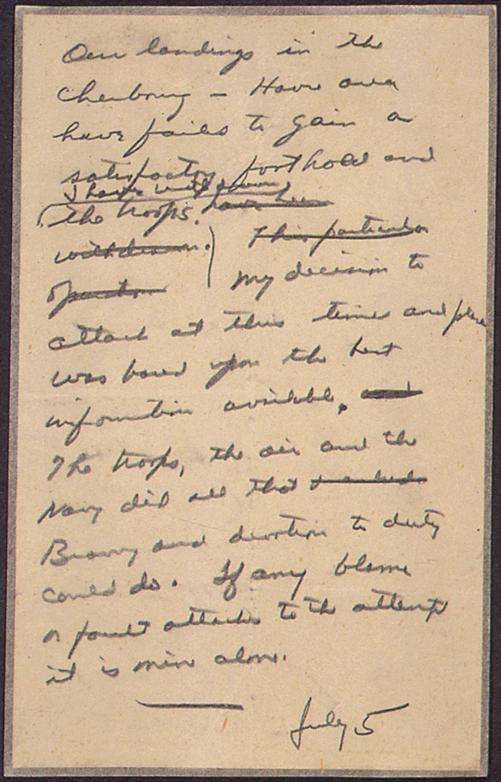 Eisenhower's letter (US National Archives)