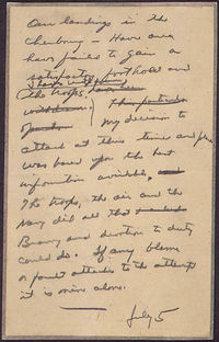 Eisenhower's letter (US National Archives)