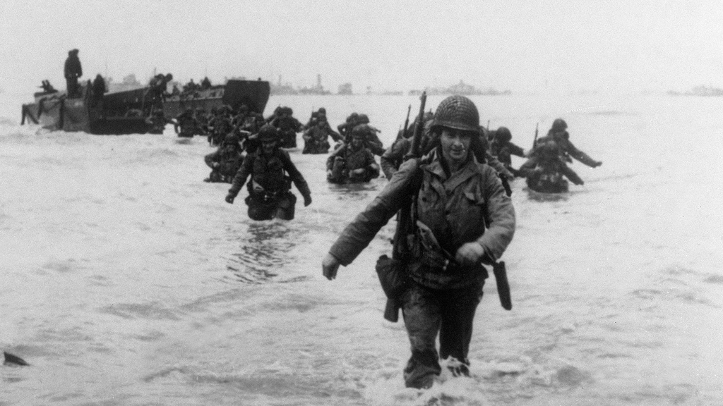 American soldiers land in Normandy (Getty)