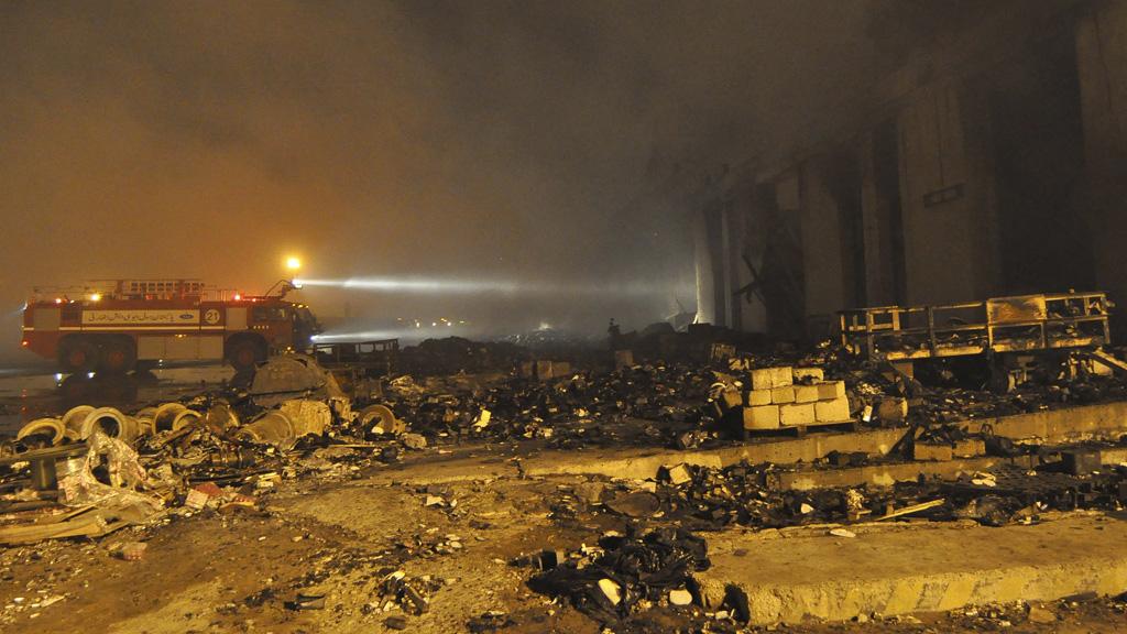 The devastation at Karachi airport