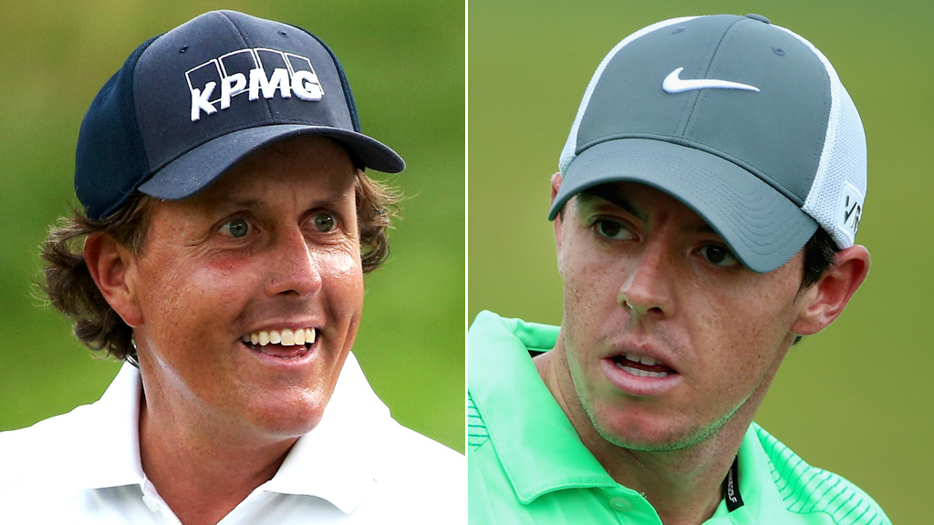 Phil Mickelson and Rory McIlroy (Getty)