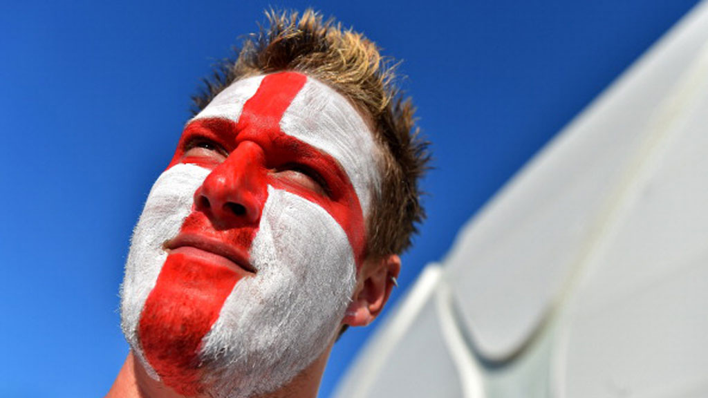 England fan at the World Cup in Brazil. (Reuters)