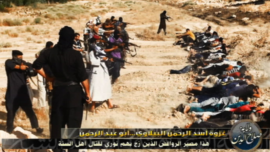 Isis photo appears to show a firing squad executing Iraqi soldiers