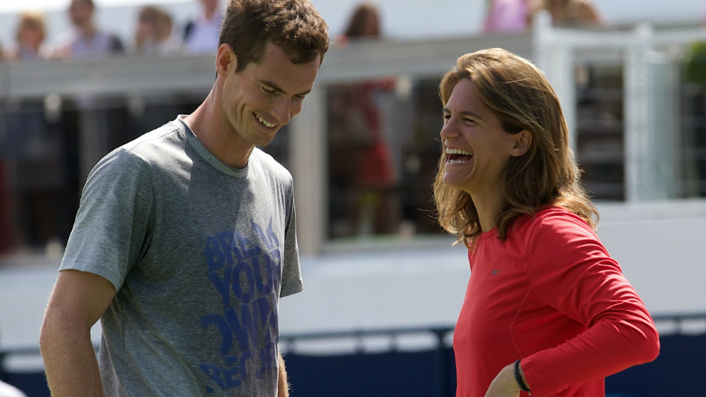 Andy Murray with new coach Amelie Mauresmo. (Getty)