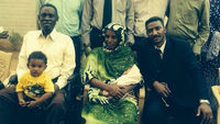 New pictures are released of Meriam Ibrahim and her family after she was freed from a prison in Sudan following her conviction for marrying a Christian.