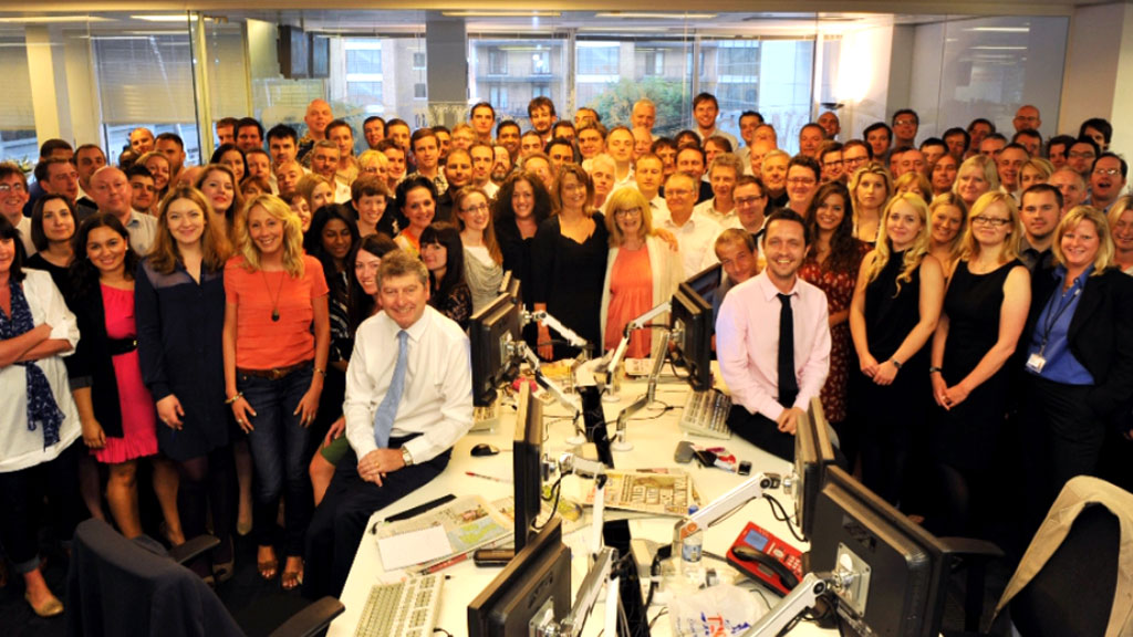 News of the World staff on the last day