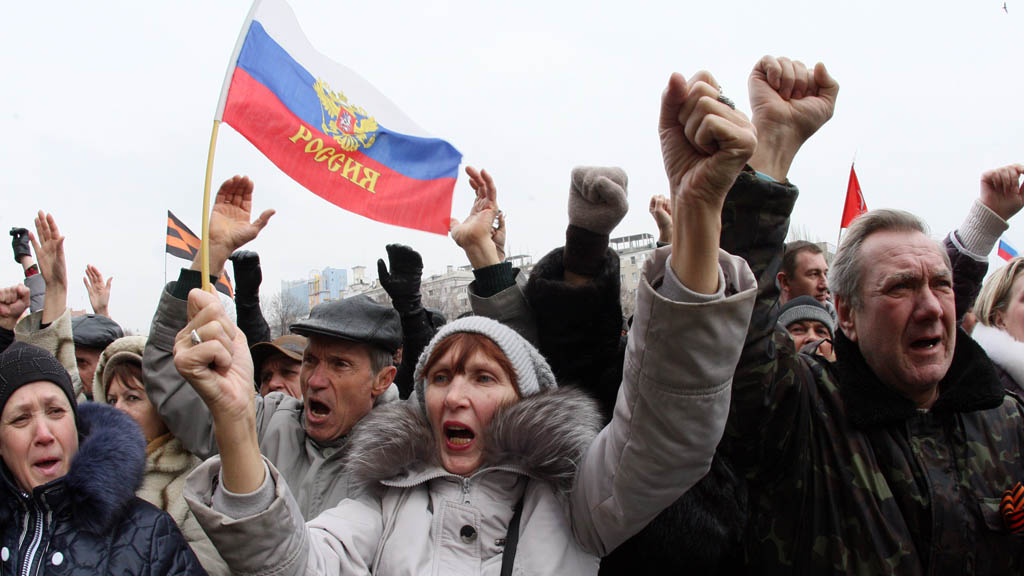 Donetsk protest (picture: Getty)