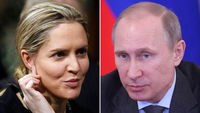 Louise Mensch and Vladimir Putin (picture: Getty)