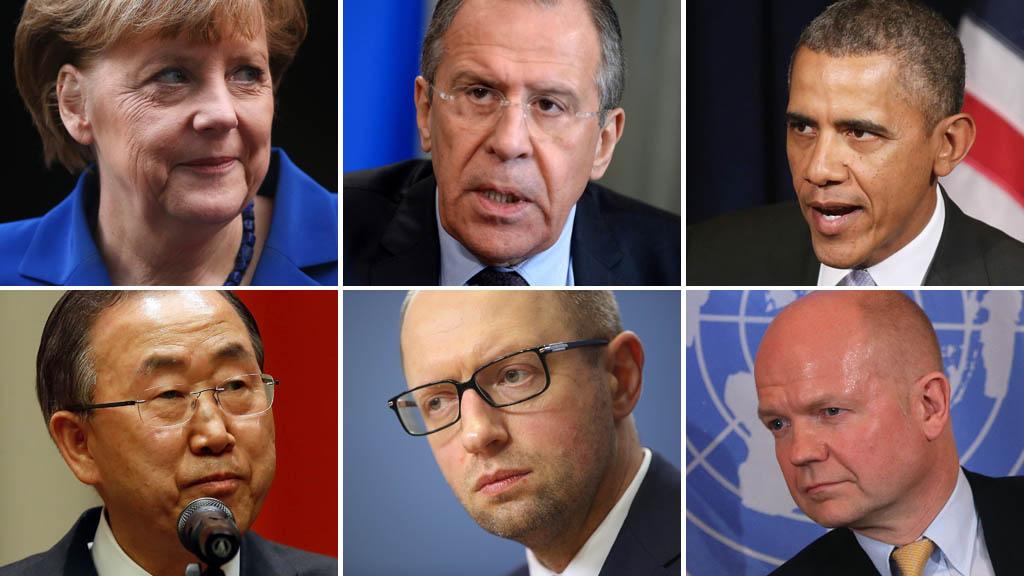 Ukraine crisis: political leaders (picture: Getty)