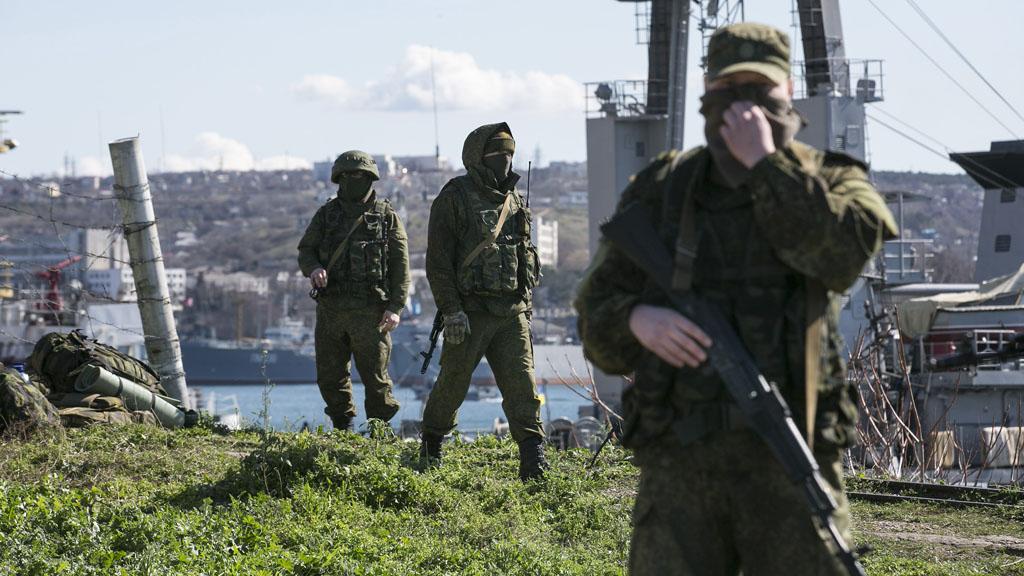 Russian soldiers in Sevastopol (Reuters)