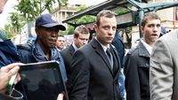 Oscar Pistorius in court accused of murdering Reeva Steenkamp. (Getty)