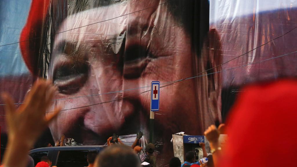 Pro-Chavez demonstration (Reuters)