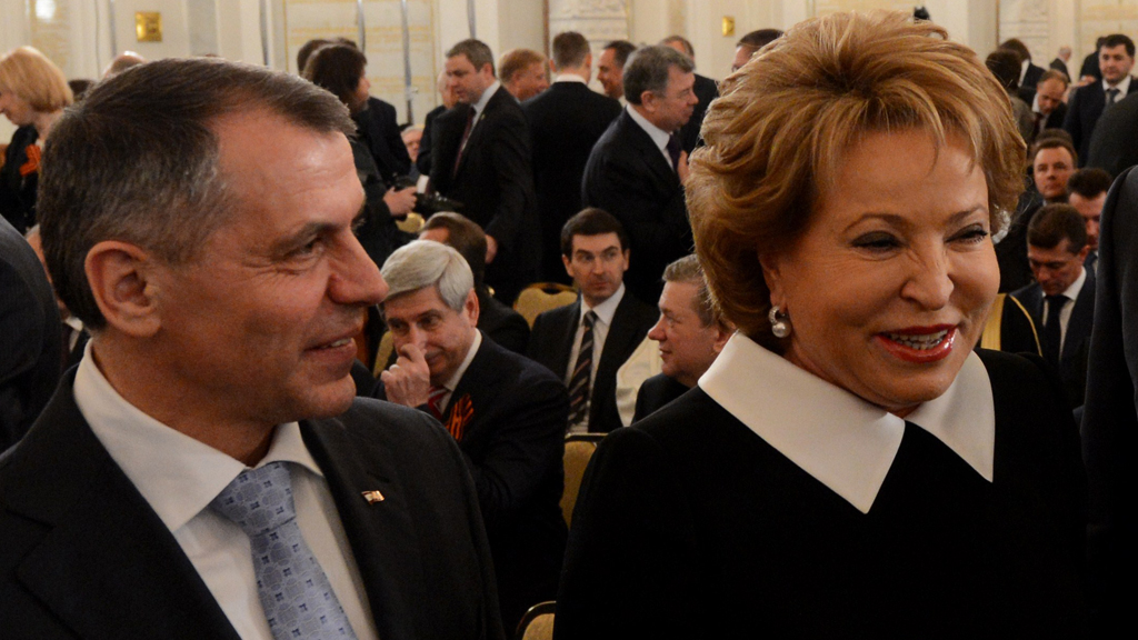 Aksyonov and Matviyenko (picture: Reuters)