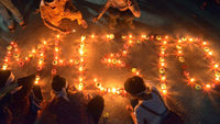Missing Malaysia Airlines flight 370: candle vigil in Thailand (picture: Getty)