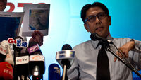 Missing Malaysia Airlines flight press conference (picture: Getty)