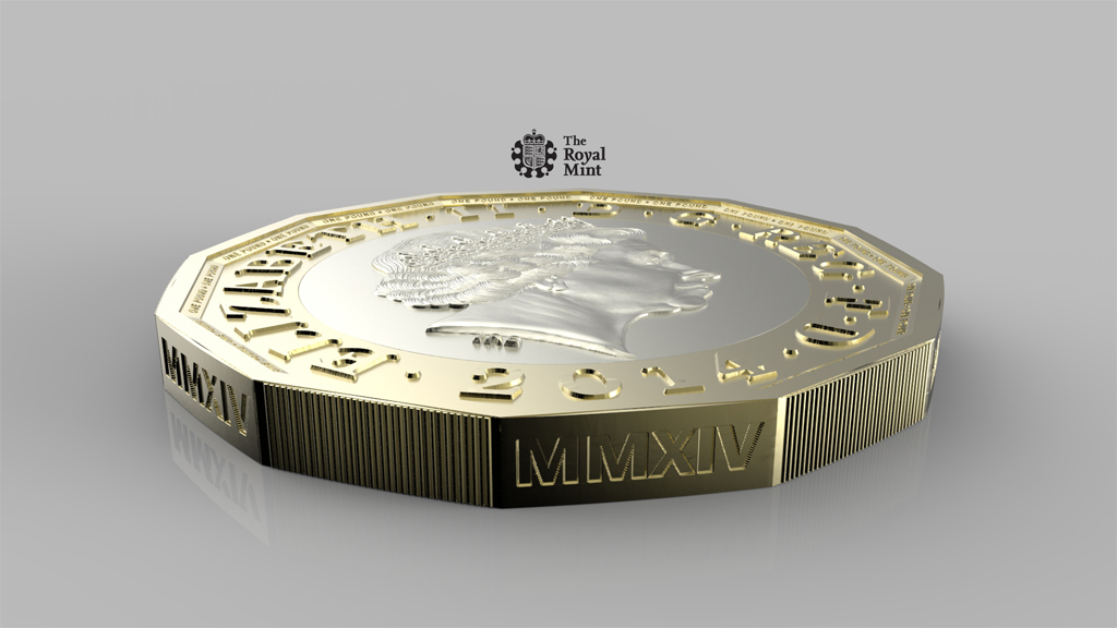 New one pound coin (picture: Royal Mint)
