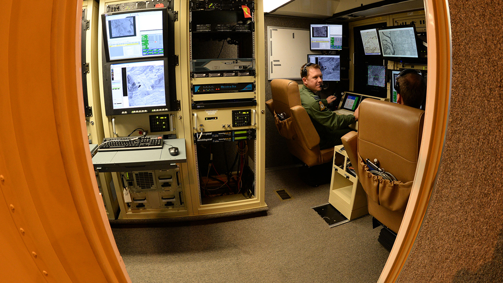UAV operators at the controls in RAF Waddington.