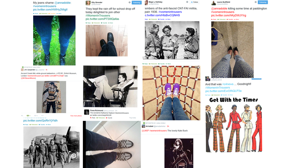 womenintrousers take over Twitter - next stop Westminster?