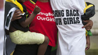London protest over Nigeria kidnapped schoolgirls