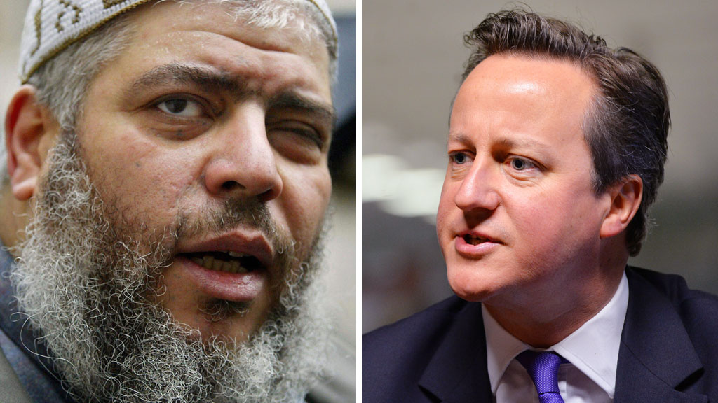 Abu Hamza and David Cameron